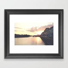 sunset on the Arno Framed Art Print