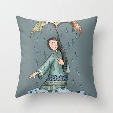Sad blueness Throw Pillow