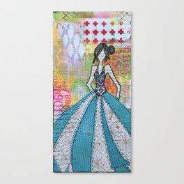 Blue Glamour Canvas Print