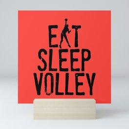 Eat Sleep Volley Mini Art Print