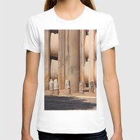 buddhism T-shirts featuring Buddhism ancient place in Sanchi by Four Hands Art