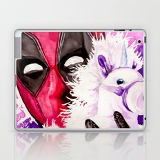 Wade Wilson and Unicorn Pal Laptop & iPad Skin