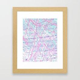 Flight of Color - pink turquoise Framed Art Print