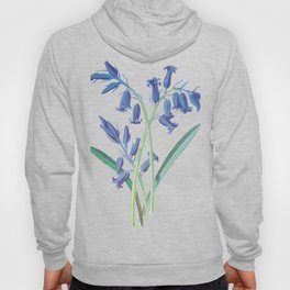 Blue Lily of the Valley Artwork Painting Hoody