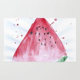Watermelon summer watercolor illustration, food illustration, fruit Rug