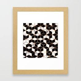 Marble & Geometry 005 Framed Art Print