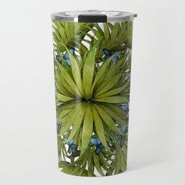 """El Bosco fantasy, tropical island blue butterflies 02"" Travel Mug"
