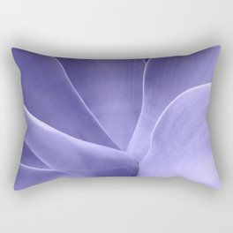 Periwinkle Succulent Rectangular Pillow