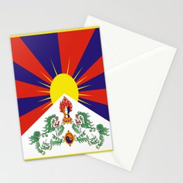 flag of Tibet Stationery Cards