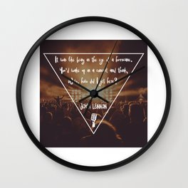 How did I get here? Musical Concert Wall Clock