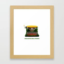ORGANIC INVENTIONS SERIES: Vintage Smythe-Corn-A Typewriter Framed Art Print