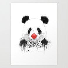 Clown panda Art Print