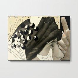 Artist Trading Card - Deep Dive Metal Print