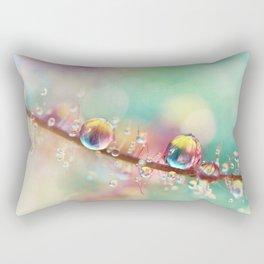 Rainbow Smoke Drops Rectangular Pillow