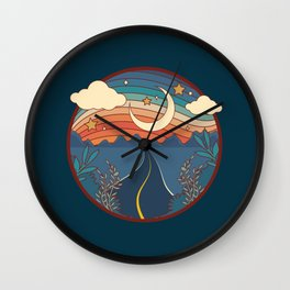 Nostalgic Road Wall Clock