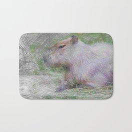 Artistic Animal capybara Bath Mat