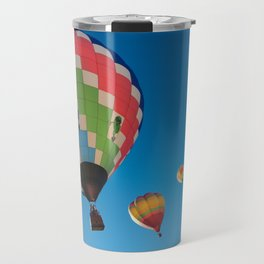 Balloons on Blue Travel Mug