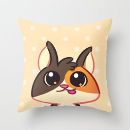Curious Kitty Cat Throw Pillow