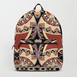 Ethnic petals. Pattern. Backpack