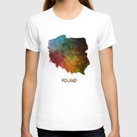 poland T-shirts featuring Poland map  by jbjart