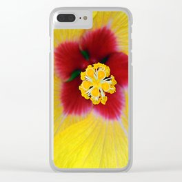 Yellow flower ## Clear iPhone Case
