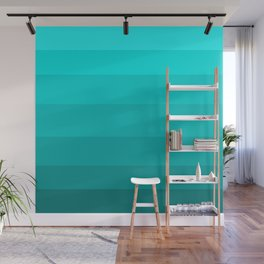Dark Aqua Turquoise Jeweled Hues - Color Therapy Wall Mural