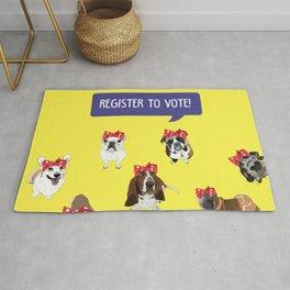 Political Pups-Register to Vote! Rug