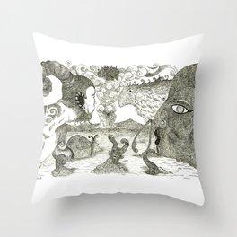 Nonsense Illustration Throw Pillow