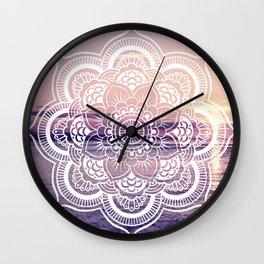 Water Mandala Amethyst & Mauve Wall Clock