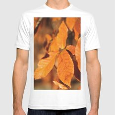 Autumn Leaves Mens Fitted Tee White MEDIUM