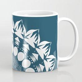 Navy Blue Mandala Coffee Mug