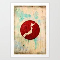 To Japan Art Print