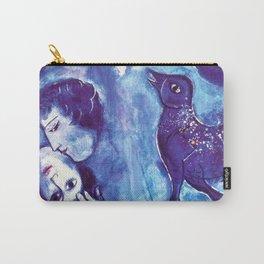 Marc Chagall, Le Paisage Bleu 1949 Artwork, Posters Tshirts Prints Bags Men Women Kids Carry-All Pouch