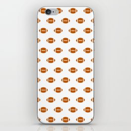Texas longhorns orange and white university college texan football pattern iPhone Skin