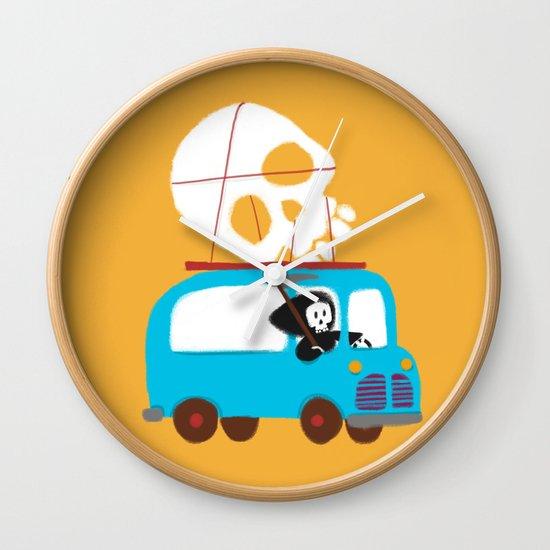 Death on wheels Wall Clock