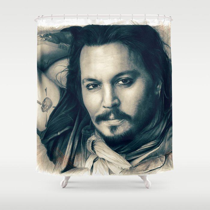Johnny Depp II. Shower Curtain