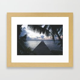On the Dock Framed Art Print