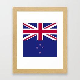 New Zealand flag emblem Framed Art Print