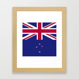 New Zealand flag emblem Framed Art Print