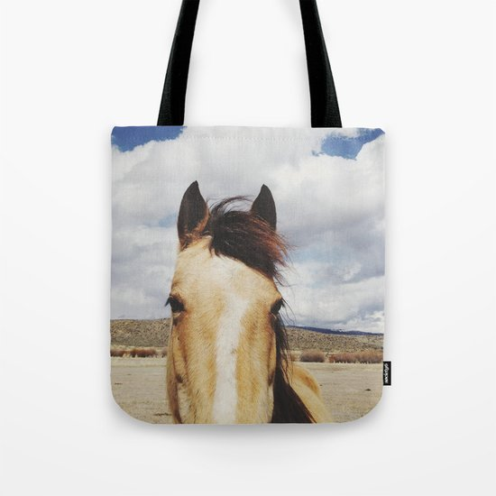 Cloudy Horse Head Tote Bag