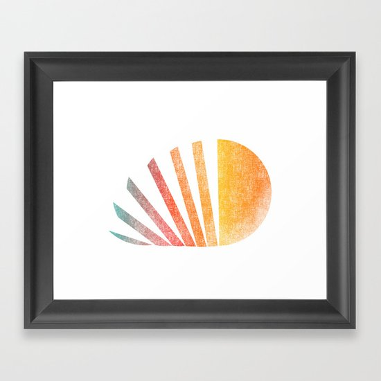 Raising sun (rainbow-ed) Framed Art Print