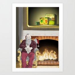 No.6 Christmas Series 1 - The Later Years Art Print