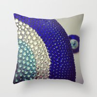 evil eye Throw Pillows featuring Evil Eye by Layal Chemaitelly