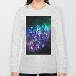 vaporwave skull Long Sleeve T-shirt