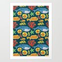 Sea Life Print by haidishabrina
