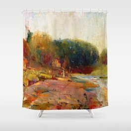 Charles Conder Yarra River Shower Curtain
