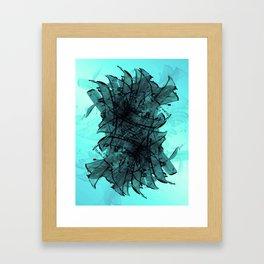 Aqua Anatomy Framed Art Print