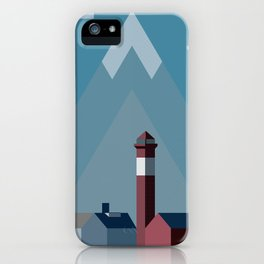 Northern landscape, minimalist illustration, nordic style, Sweden, Finland, Norway, Denmark iPhone Case