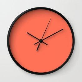 Simply Deep Coral Wall Clock