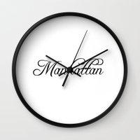 manhattan Wall Clocks featuring Manhattan by Blocks & Boroughs